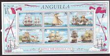 Anguilla MNH 1976 Ships Battle sheet mint stamps