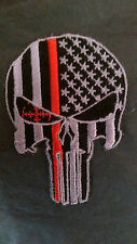 Thin Red Line Punisher Patch Iron on Firefighter New New