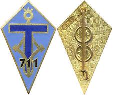 711° Compagnie de Transmissions, émail, dos guilloché, Drago 1544 (7326)