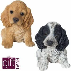 Cocker Spaniel Puppy Dog - Lifelike Ornament Gift - Indoor Outdoor Pet Pals NEW