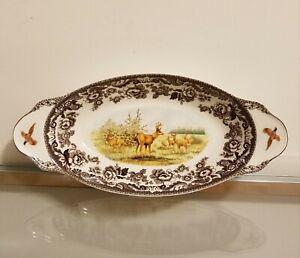 Spode Woodland Bread Tray Serving Platter DEER Fine Porcelain NEW