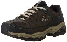 Skechers Sport Men's Afterburn Memory-Foam Lace-up Sneaker Brown/Taupe