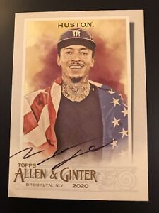 2020 Topps Allen & Ginter NYJAH HUSTON #193 SIGNED AUTO Autograph Rookie Card Rc
