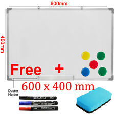 600 x 400mm Dry Wipe Magnetic Whiteboard Office School Home Notice Drawing Board