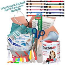 ABNOBAS FULL Whelping Kit Beaphar Lactol Puppy Dog Milk Feed Bottle 12 ID COLLAR