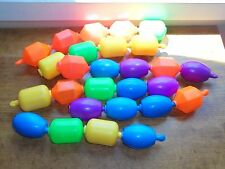 Vintage 1980s Fisher Price Plastic Snap Lock Beads Shapes Link Baby Toy Lot