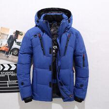 Winter Warm Men's Duck Down Jacket Ski Jacket Snow Hooded Coat Climbing Oversize