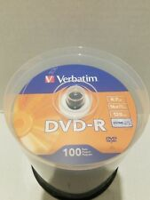 Verbatim DVD-R Discs 4.7GB 16x Spindle Silver 100/Pack 95102