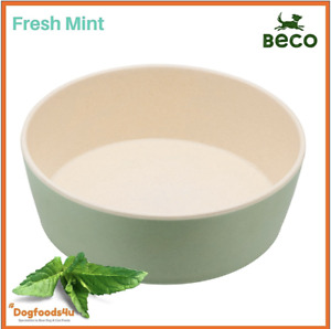 Beco eco biodegradable dogs bowl - Small Fresh Mint Green - Natural