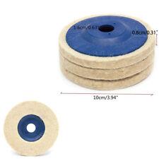 3X 4 Inch Polishing Discs Wool Polishing Pads Angle Grinder Wheel Felt Disc Pad