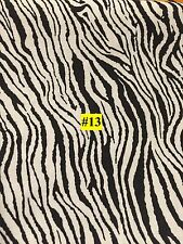 WILD ANIMAL Zebra White Tiger type PRINT 100% COTTON FABRIC by the yard #13