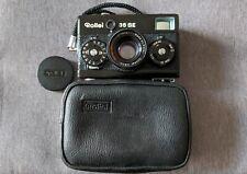 Negro Rollei 35 se, 40mm F2.8 Lente Sonnar HFT, Caja Original, Tapa Del Lente Y Correa