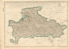 1863  LARGE ANTIQUE MAP - DISPATCH ATLAS-DEVONSHIRE, NORTH DIVISION
