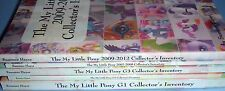 My Little Pony Collector's Inventory All MLP Price Guide Books G1 G2 G3 G3.5 G4