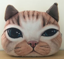 3D Effect Ginger Cat Pillow perfect Christmas or Birthsday present