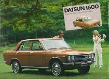 Datsun Nissan 1600 Saloon 1970-72 UK Market Single Sheet Sales Brochure Bluebird