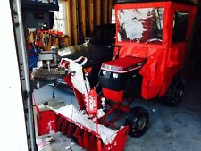 Wheel Horse 312-8 tractor with cab, snow blower, 36 inch mower and a plow.