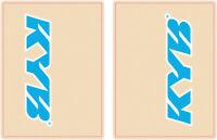 FLU Designs KYB Upper Fork Decal Cyan Blue/White 01014