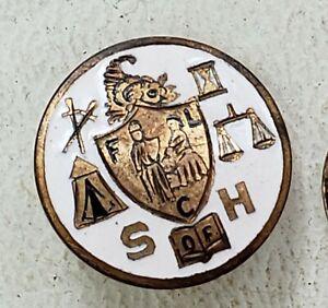 Daughters Union Veterans CIVIL WAR FCL 1861-1865 enameled screw back pin