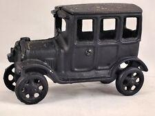 Vintage Dent (?) Cast Iron 1920's 4 door Town Car Home Decor Shelf Desk Display