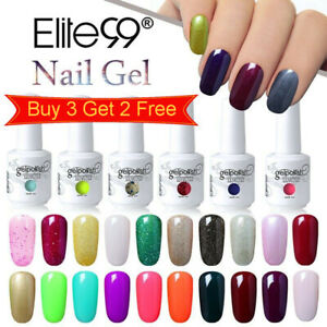 Elite99 UV LED Colour Gel Polish Top Base Coat 15ML Lacquer Nail Set Manicure