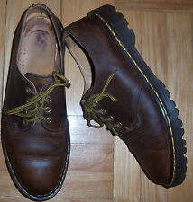 Super DR. MARTENS Brown Shoes Size 11 UK Made in ENGLAND