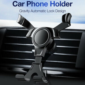 Adjustable Universal Phone Holder Car Air Vent Gravity Design Mount Cradle Stand