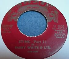 Barry Wait & LTD./Sting Part I&II / Leo Records Rare Killer Jamaican Funk 45