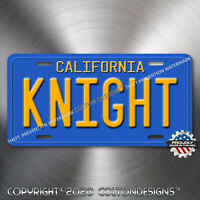 Knight Rider 1982 Trans Am KITT KNIGHT Aluminum Replica Prop License Plate Tag