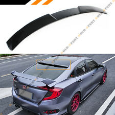 FOR 16-2020 10TH GEN HONDA CIVIC 4DR SEDAN GLOSSY BLACK REAR WINDOW ROOF SPOILER