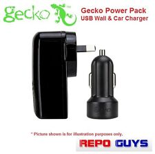 GECKO Power Pack USB Wall & Car Charger for iPhone/iPod/iPad: BRAND NEW