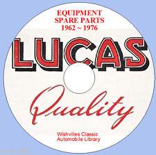 Lucas Parts Information DVD 1962 ~ 1976
