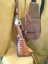Leather Gunstock Cover shell Holder Winchester Marlin Rossi Henry Uberti Stoeger