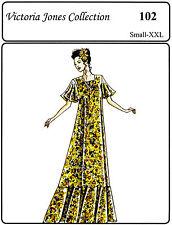 Victoria Jones Loose-fit Pullover Muumuu / Long Dress S-2XL Sewing Pattern # 102