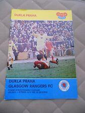 Dukla Prague v Glasgow Rangers (european cup winners cup 16-09-81)