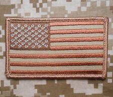 Usa American Flag Tactical Morale Dcu Desert Arid Velcro® Brand Fastener Patch