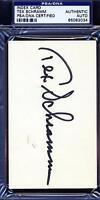 Tex Schramm Signed Psa/dna 3x5 Index Card Certified Autograph