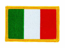 FLAG PATCH PATCHES ITALY ITALIA ITALIAN IRON ON COUNTRY EMBROIDERED WORLD SMALL