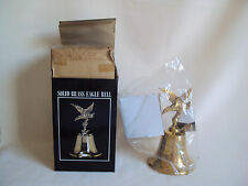 "VINTAGE SOLID BRASS EAGLE BELL UNUSED IN BOX 5.75"" TALL"
