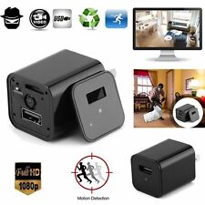HD 1080P Mini Spy Hidden Camera USB Wall Charger Power Adapter Motion Camcorder