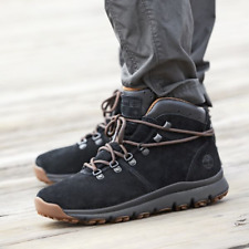 Timberland Men's World Hiker Mid Boots (Size 9) Black Suede - Salesman Sample