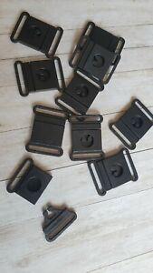 Plastic Safety Breakaway Bra Buckles Webbing 25mm Wide Hole Size Black  2pcs