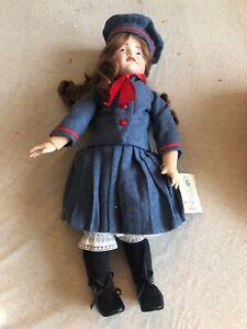 """Vintage Porcelain French Doll 17"""" Hans Gretchen K*R"""