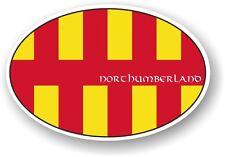 Classico design ovale con Northumberland Paese Bandiera Vinile Auto Adesivo Decalcomania