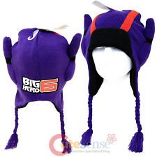 Disney Big Hero 6 Hiro Peruvian Knitted Beanie 3D Laplander Hat  Cosutme cap
