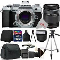 Olympus OM-D E-M5 Mark III Mirrorless Camera Silver 14-150mm Lens Accessory Kit