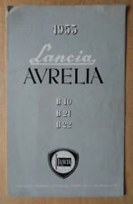 LANCIA AURELIA B10 B21 B22 ORIGINAL 1953 SALES BROCHURE PROSPEKT PROSPETTO