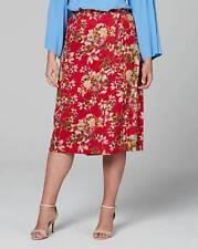 Lovedrobe floral printed suedette midi skirt uk size 18 -  (ref box 100)