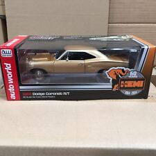 1:1869 DODGE CORONET R/T 50th ANNIVERSARY LIGHT BRONZE BY AUTOWORLD