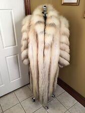 GORGEOUS WOMAN'S FULL LENGTH GOLDEN ISLAND FOX FUR COAT JACKET STROLLER 10 - 12